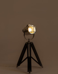 Chrome and Black tripod lamp