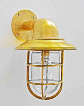 Brass Bend Light With Hat